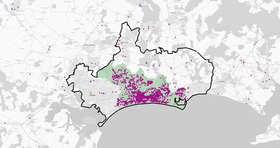 Catchment areas versus territories